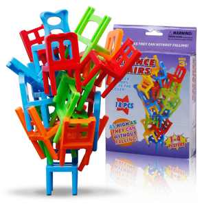 Family Board Game Children Educational Toy Balance Stacking Chairs Office Game