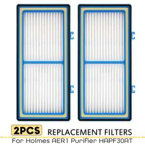 True Filter Replacement for Holmes Aer1 Series Total Air Filter, Replacement Parts # HAPF300AH-U4R, HAP242-NUC (2 HEPA True Filter Replacement)