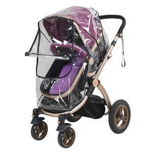 Spptty 1PC PVC Universal Waterproof Baby Stroller Rain Cover Dust Wind Shield Pram Accessory, Stroller Rain Cover, Baby Pushchair Shield