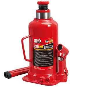 Torin Jacks Big Red 20 Ton Capacity Heavy Duty Hydraulic Welded Industrial Bottle Jack