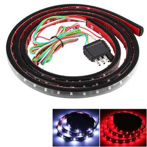 60 Inch LED Truck Tailgate Light Bar Strip, Weatherproof Red White Reverse Brake Light, Multi-Function Turn Signal Running for Truck, SUV, RV, Trailer, etc(Brake, Turn Signal, Running, Reverse Backup)