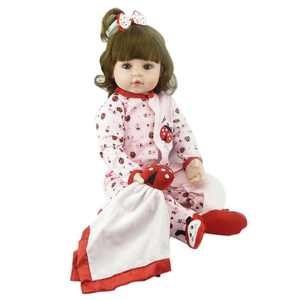 """Zimtown 24"""" Reborn Dolls Lifelike Silicone Baby Girl Newborn Doll Gifts for Kids,Non-toxic"""