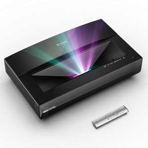 BOMAKER 4K Tri-Color Laser Projector| Ultra Short Throw Projector with HDR 10, MEMC| Home Theater Laser TV| 2500 ANSl Lumen