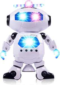 Electronic Walking Dancing Robot Toys for Kids - Little Robot with Music, LED Lights for 3 Year olds and Above- Battery Operated Robot Toy for Birthday Gift, Christmas, Easter