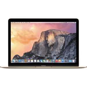 "Refurbished Apple MacBook Retina 12"" IPS Laptop Intel Core M Dual Core 8GB 256GB SSD - Gold"
