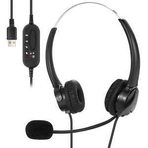 Headphones with Microphone USB Wired Headset for Laptop Desktop Call Center