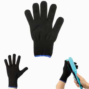 Black Heat Resistant Protective Glove Hair for Hair Curling Hair Straight Iron