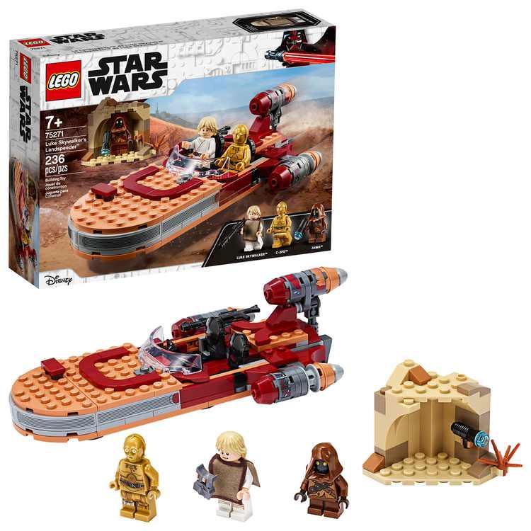 LEGO Star Wars: A New Hope Luke Skywalkers Landspeeder 75271 Building Kit, Collectible Set (236 Pieces)