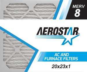Aerostar 20x23x1 MERV  8,  Air Filter, 20x23x1, Box of 4