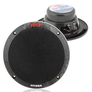 Pyle PLMR605B 6.50 Inch Waterproof 2 Way Full Range Marine Speaker Pair, Black