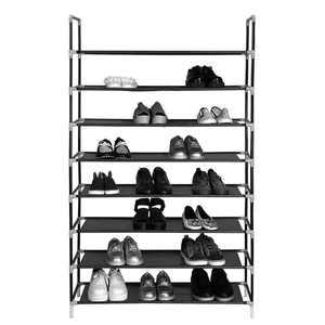 Zimtown 8-Tier Shoe Rack, Non-woven Fabrics And Steel, Black