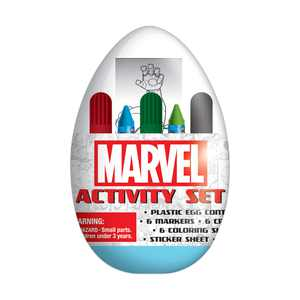 Marvel Easter Egg Activity Set, Includes Stickers, Markers, Crayons
