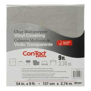 """Con-Tact Clear Vinyl 54"""" x 108"""" Covering, 1 Each"""