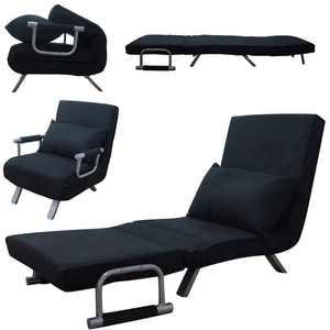 UBesGoo Foldable Sofa Bed Steel Frame Top Sleeper Flip Convertible Sofa Chair with Dust Cover,Black