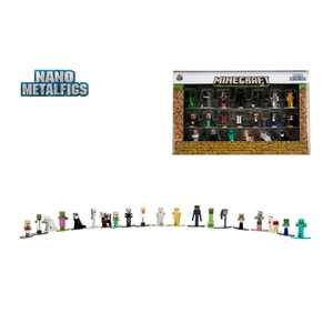 """Minecraft 1.65"""" Die-cast Metal Collectible Figurine 20-pack Wave 1, toys for kids and adults"""