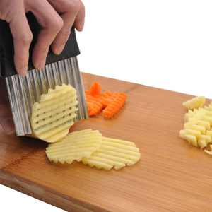 Stainless Steel Potato Wavy Cutter French Fries Chips Kitchen Tool