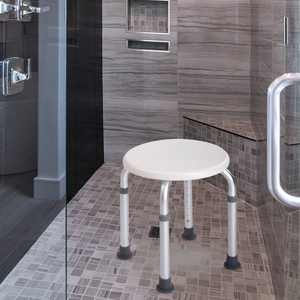 Jaxpety Adjustable Shower Stool Tub Chair 7 Height Medical Tool-Free Assembly Bathtub Seat Bench for Safety and Stability