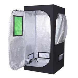 "Zimtown Plant Grow Tent 100% Reflective Mylar Hydroponics Indoor Gardening with Window- 32""x 32""x 64"""