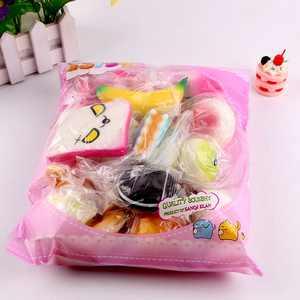 Outtop 10pcs Medium Mini Soft Squishy Bread Toys Key