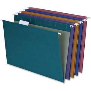 Pendaflex, PFX35117, Reinforced Hanging File Folders, 20 / Box, Assorted