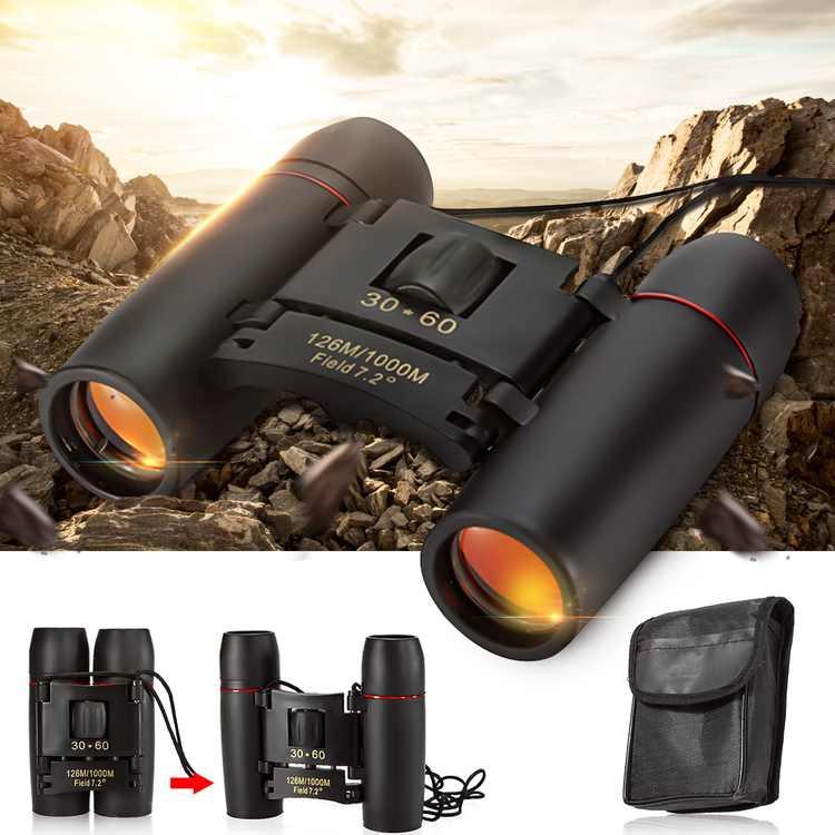 Kadell Quick Focus 30x60mm Day and Night Roof Prism Binoculars, Waterproof (Black)