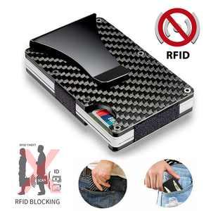 EEEkit Carbon Fiber Card Wallet,Carbon Fiber Wallet,RFID Blocking Front Pocket Wallet,Minimalist Wallet,wallet for men and women,Slim RFID Wallet,Credit Card Holder Wallet