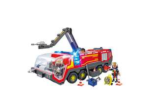 PLAYMOBIL Airport Fire Engine with Lights and Sound Vehicle Playset