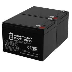 12V 12AH SLA Battery for Pride Mobility Go-Go Ultra X 3-Wheel - 2 Pack