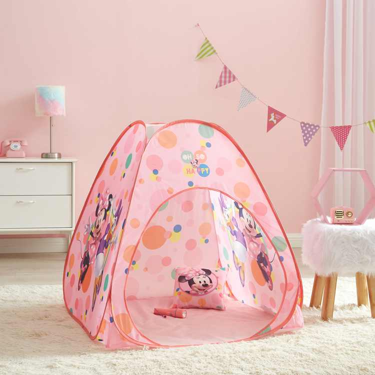 Minnie Mouse Pop Up Tent Set with Pillow and Flashlight