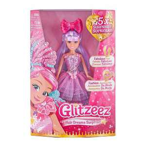 Glitzeez Hair Dreams Surprise Doll Purple Hair