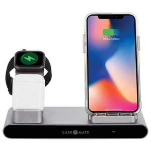 Case-Mate Power Pad Pro 3-in-1 Wireless Charger, Qi Certified - Black