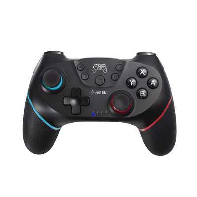 Wireless Pro Controller For Nintendo Switch / Switch Lite Console, Supports Gyro Axis, Turbo and Dual Vibration, Black by Insten