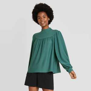 Women's Long Sleeve Blouse - A New Day