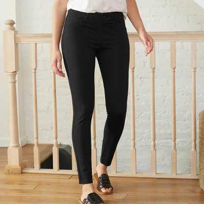 Women's Ponte Slim Pants - Knox Rose Black