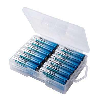 Insten Premium AAA Alkaline Batteries 1.5 Volt Battery in Durable Reusable Plastic Storage Case