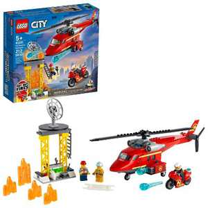LEGO City Fire Rescue Helicopter Building Kit 60281