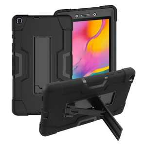 Valor Symbiosis Hard Dual Layer Plastic TPU Cover Case w/stand/Holster For Samsung Galaxy Tab A 8.0 (2019) - Black