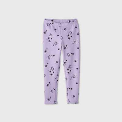 Toddler Girls' Geometric Print Cozy Leggings - Cat & Jack Purple
