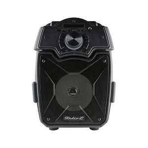 Studio Z STZP-650 6.5 Inch Portable Rechargeable Speaker Woofer Entertainment System with USB Music Stream and Handheld Wired Microphone