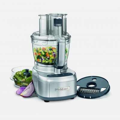 Cuisinart FP-13DSVFR Elemental 13 Cup Chopper Food Processor Kitchen Appliance, Silver (Manufacturer Refurbished)