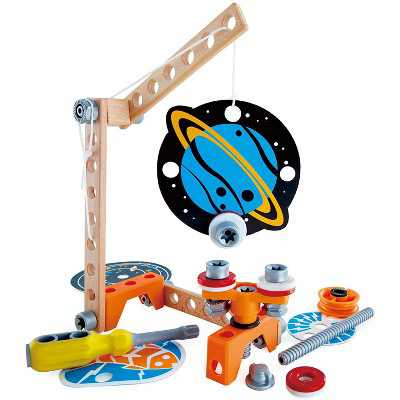 Hape Unisex Junior Inventor Intelligent 34 Piece Magnetic Science Kit Educational STEAM Toy for Ages 4 and Up