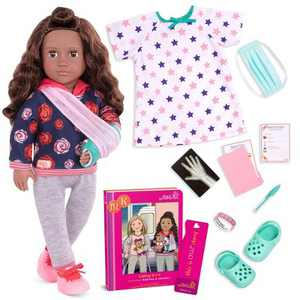 "Our Generation 18"" Doll with Hospital Gown & Storybook - Keisha"