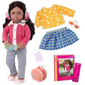 "Our Generation 18"" Posable Travel Doll with Storybook - Aryal"