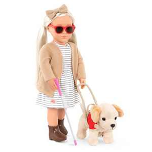 "Our Generation 18"" Doll with Plush Guide Dog - Marlow"