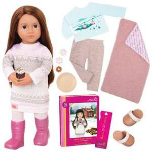 "Our Generation 18"" Posable Doll with Storybook - Sandy"