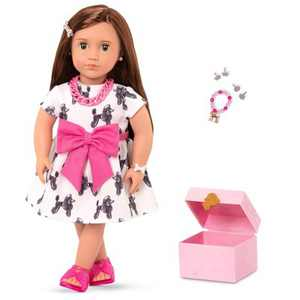 """Our Generation 18"""" Doll with Jewelry Box & Pierced Ears - Nancy"""