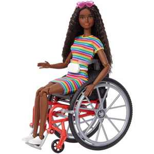 Barbie Fashionistas Doll #166 with Wheelchair & Crimped Brunette Hair