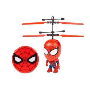 """World Tech Marvel 3.5"""" Spider-Man Flying Figure IR Helicopter"""