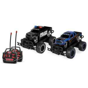 World Tech Toys Ford F-150 SVT Raptor Police Pursuit RTR Electric RC Monster Truck - 1:24 Scale - 2pk