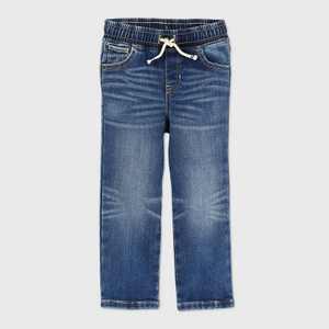Toddler Boys' Pull-On Brushed Back Straight Leg Jeans - Cat & Jack Medium Wash